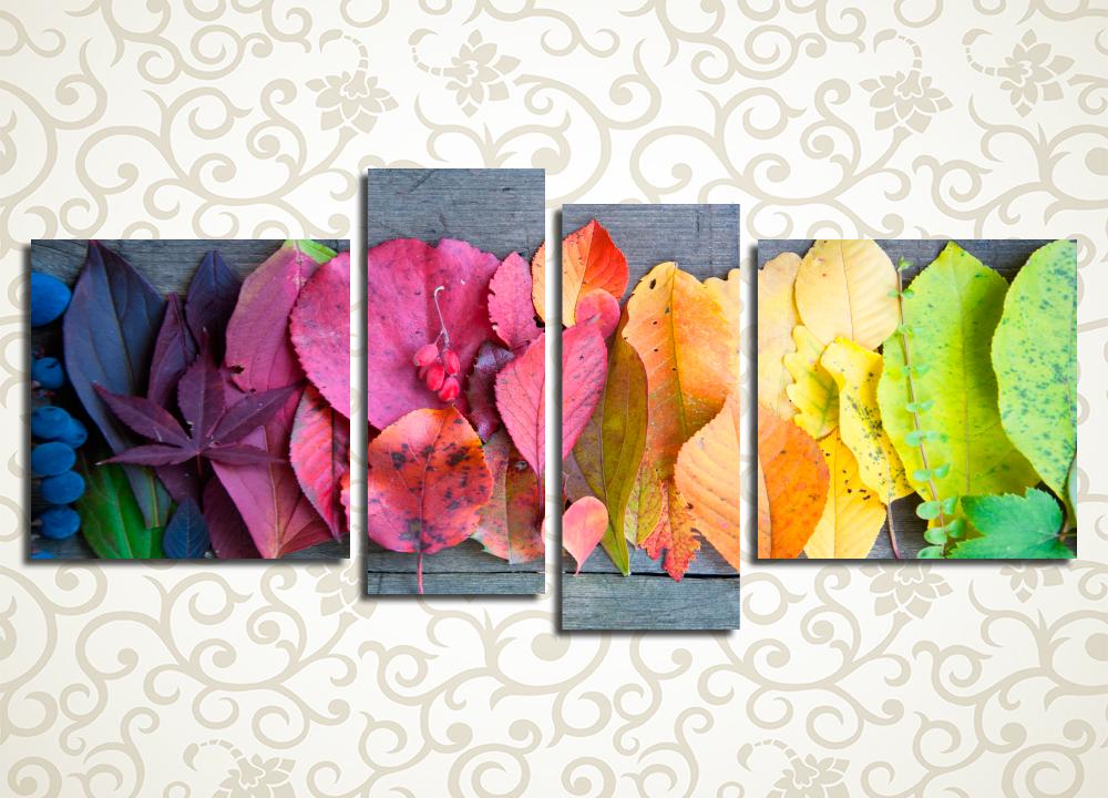 Модульная картина Осенняя радуга