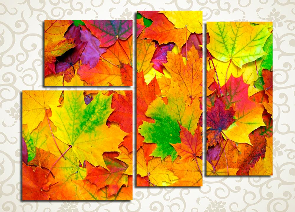 Модульная картина Разноцветный листопад