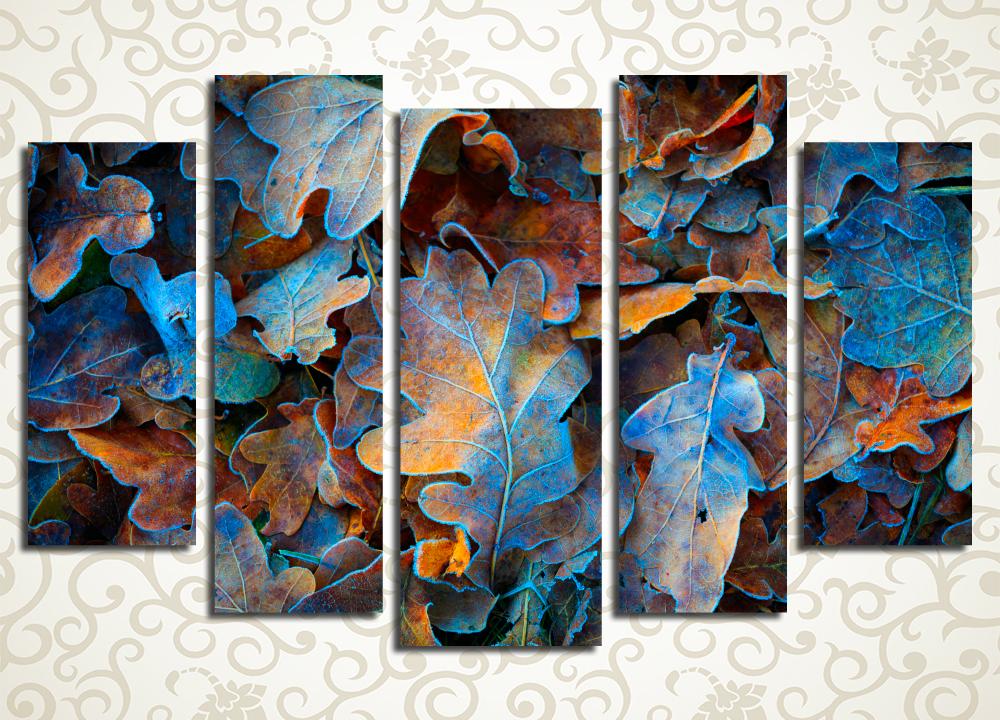 Модульная картина Синий иней