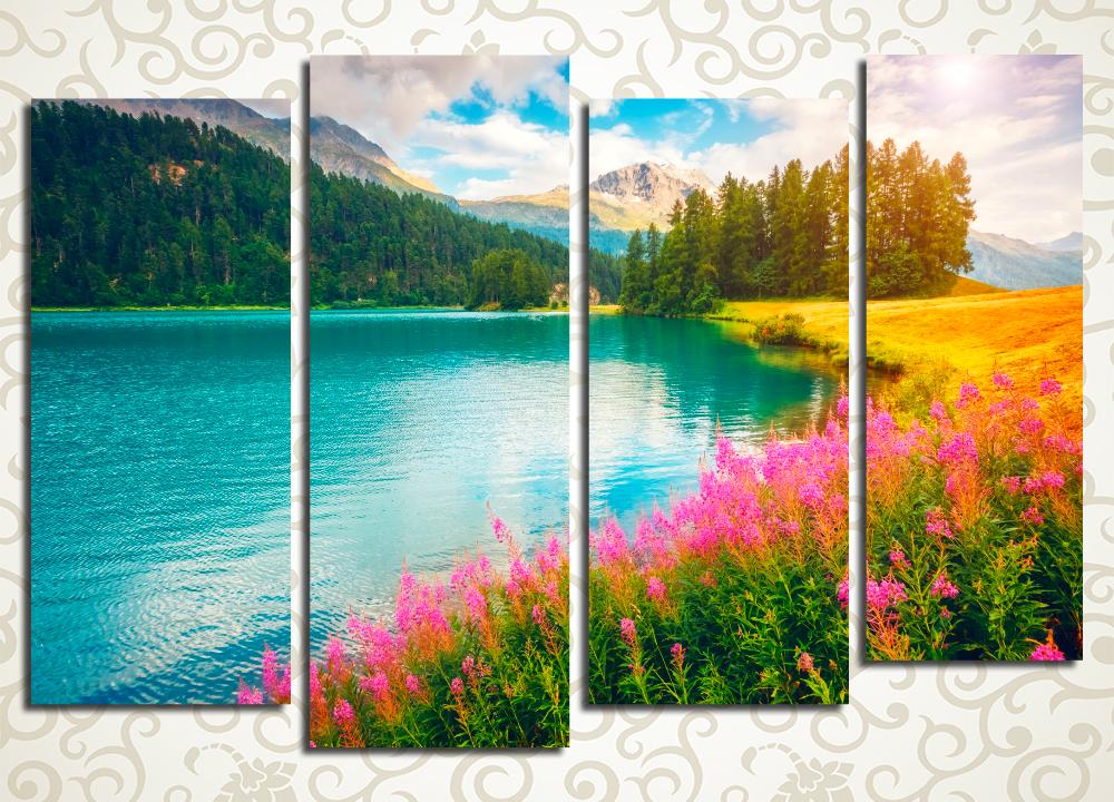 Модульная картина Радужный пейзаж