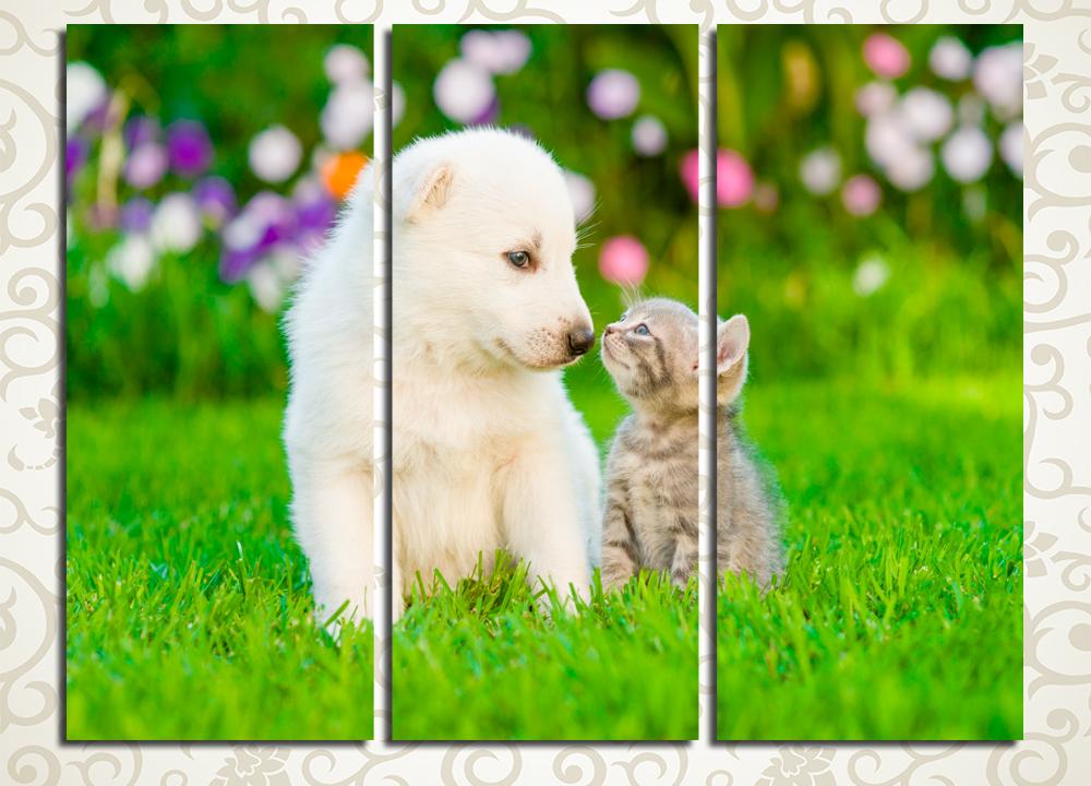 Модульная картина Маленькие друзья