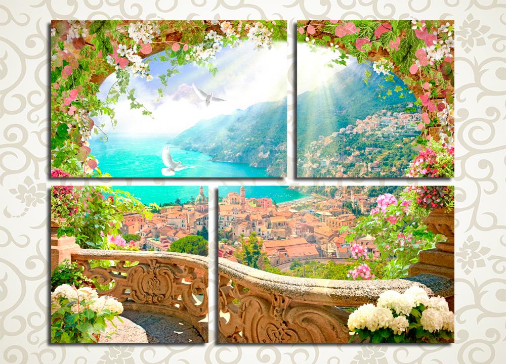 Модульная картина Очарование Италии