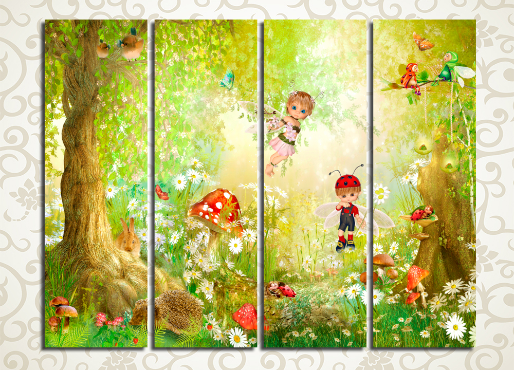 Модульная картина Сказочный лес