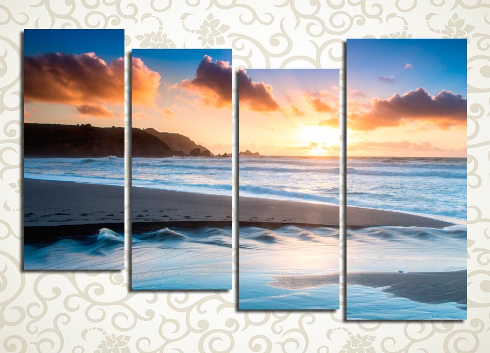 Модульная картина Восход на побережье