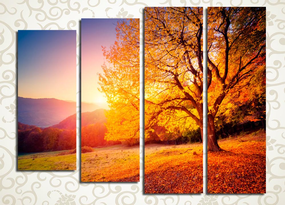 Модульная картина Огненная осень