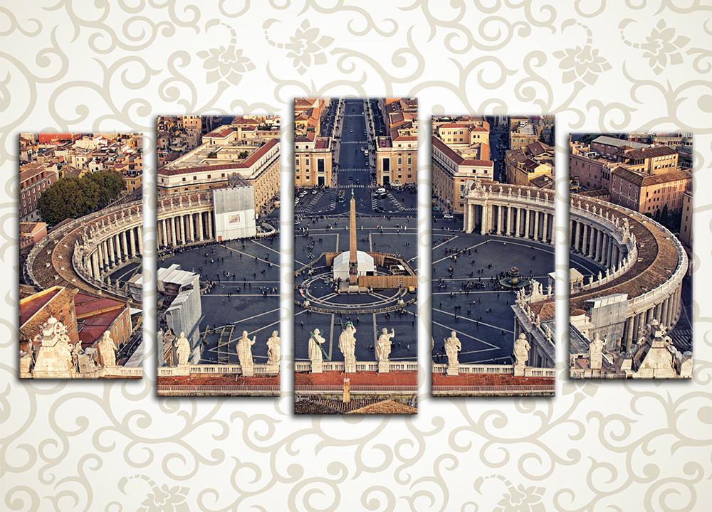 Модульная картина Площадь Святого Петра, Рим (Италия)