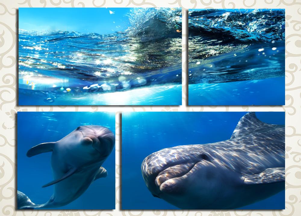 Модульная картина Дельфины<br>