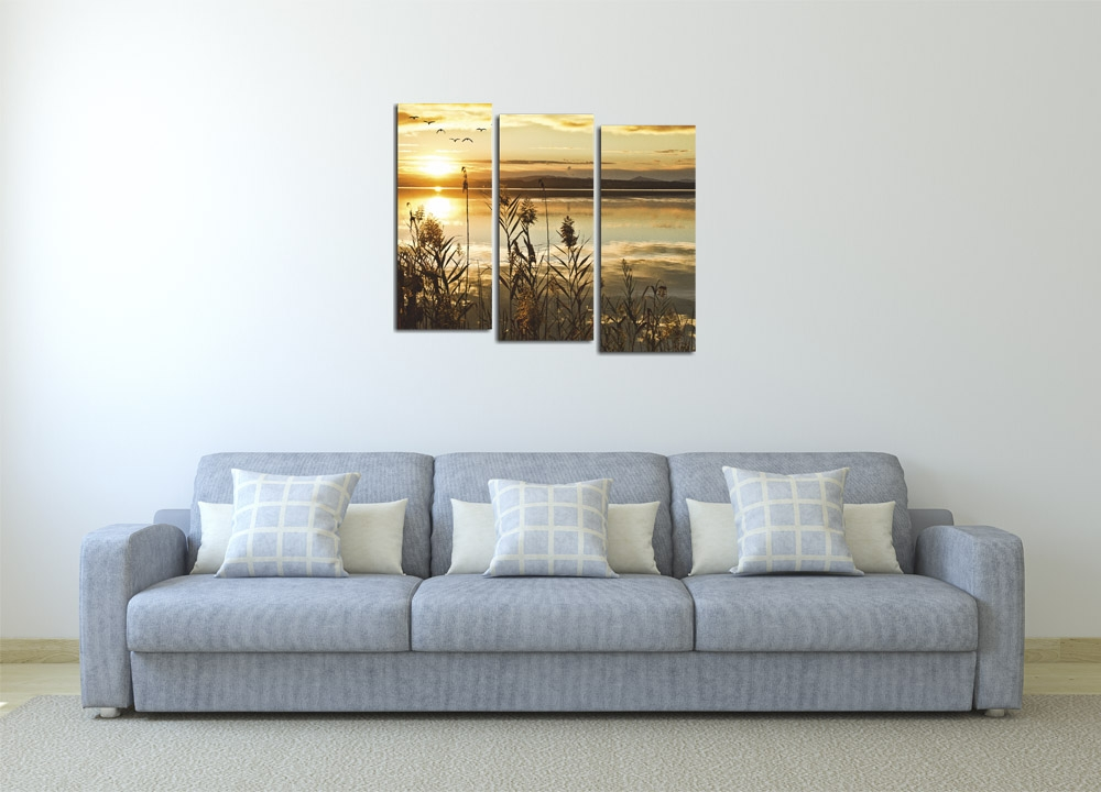 Модульная картина Отражение заката