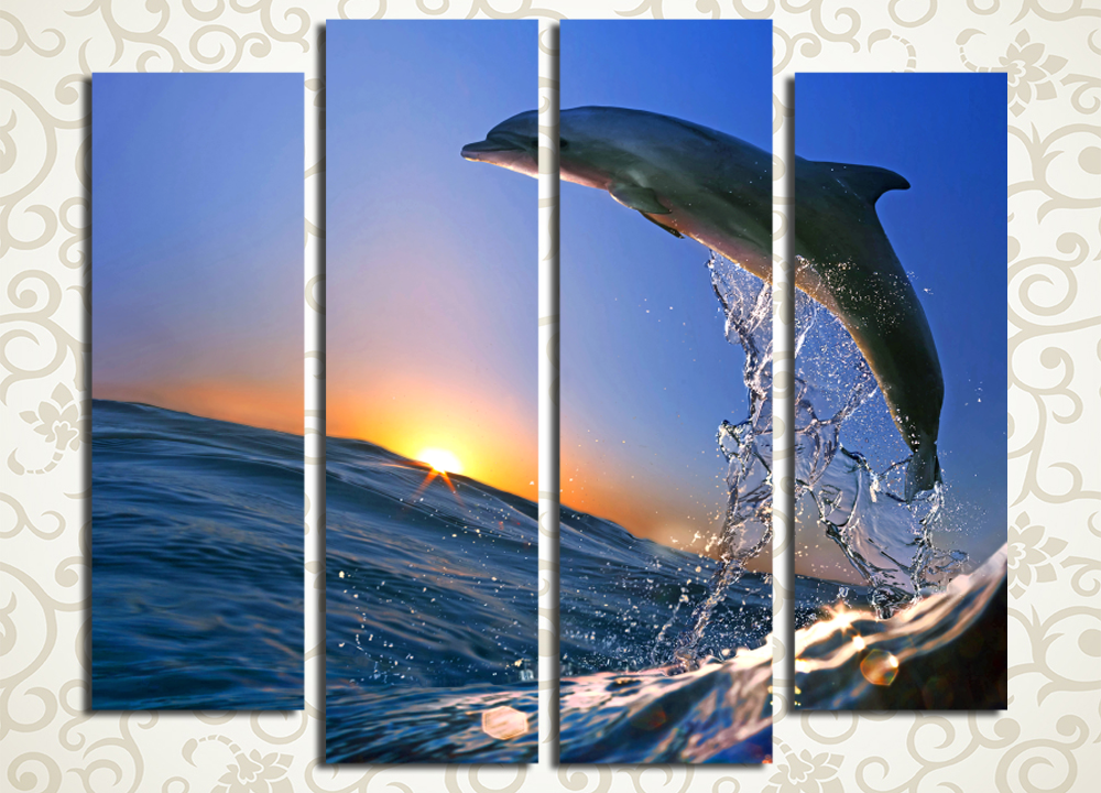 Модульная картина Дельфин<br>