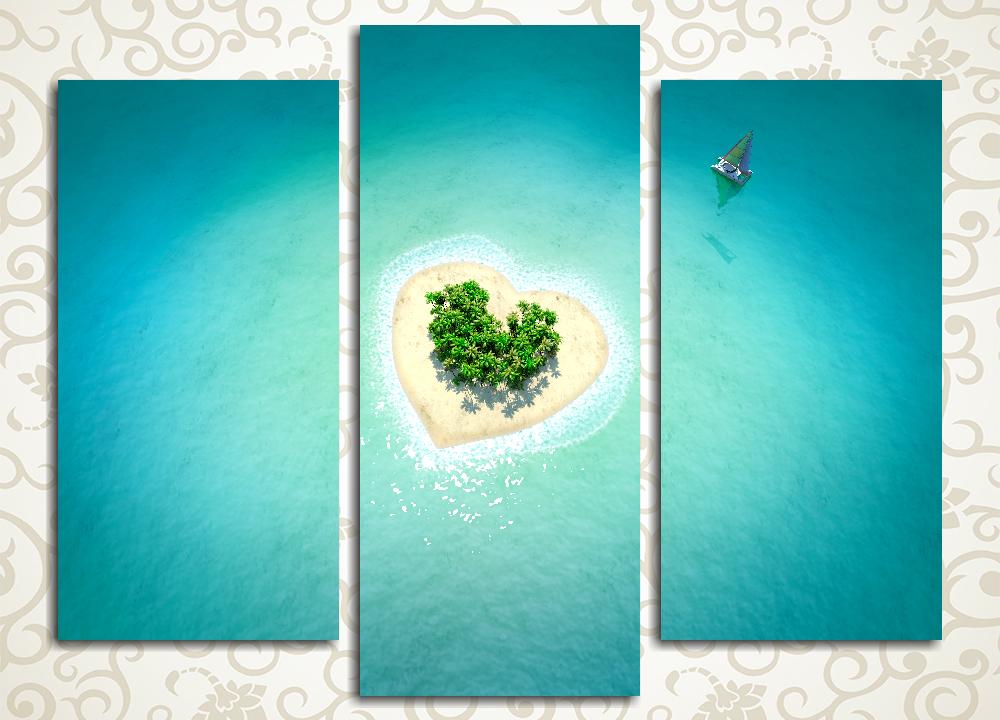 Модульная картина Тропический остров