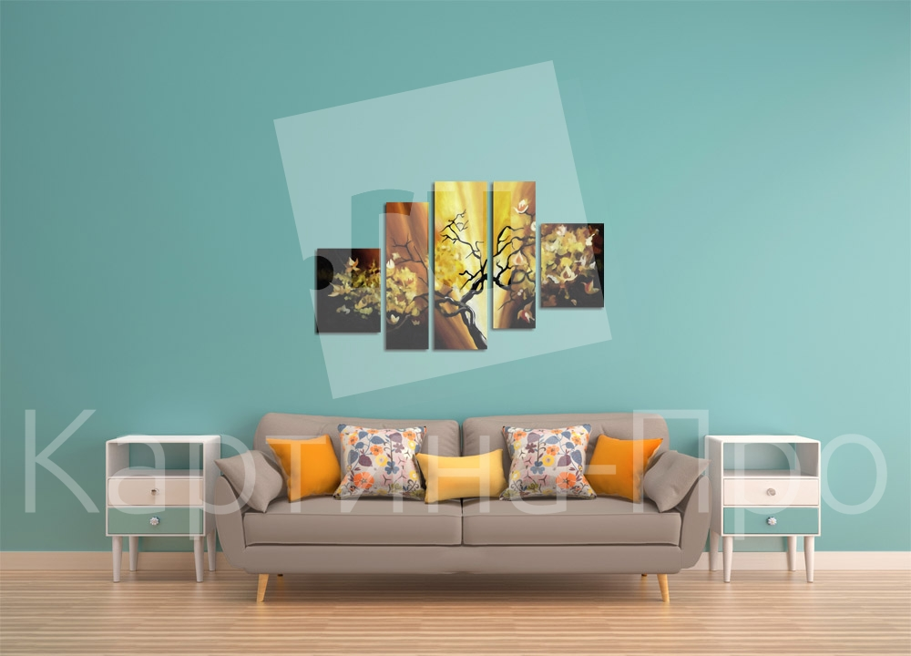 Модульная картина Абстрактное дерево от Kartina-Pro