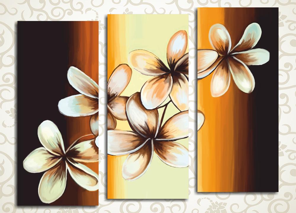 Модульная картина Весна в коричневых тонах
