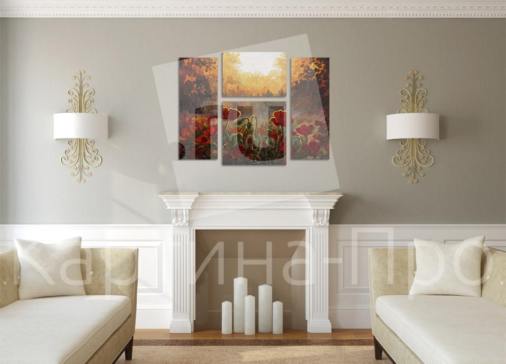 Модульная картина Маки, картина маслом от Kartina-Pro
