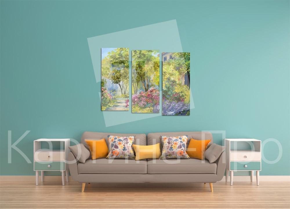 Модульная картина Летний сад от Kartina-Pro