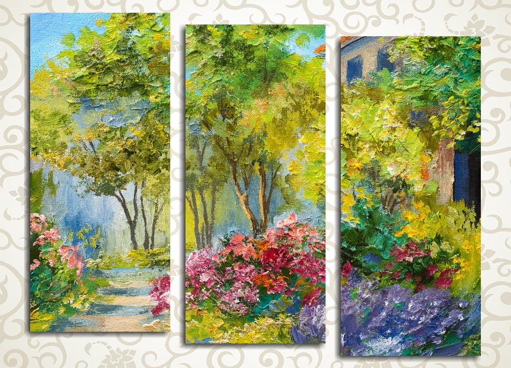 Модульная картина Летний сад
