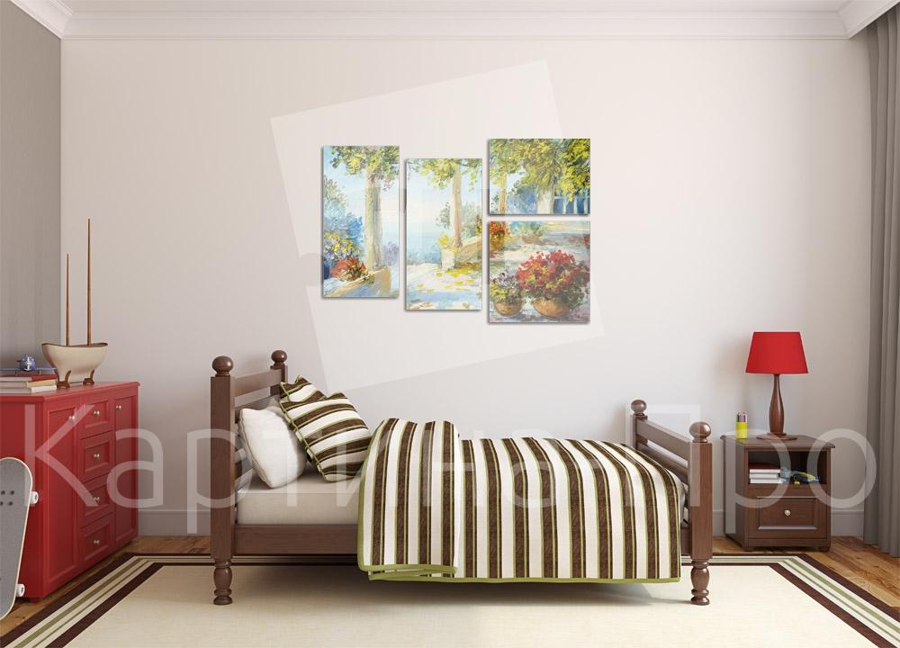 Модульная картина Терраса на берегу моря от Kartina-Pro