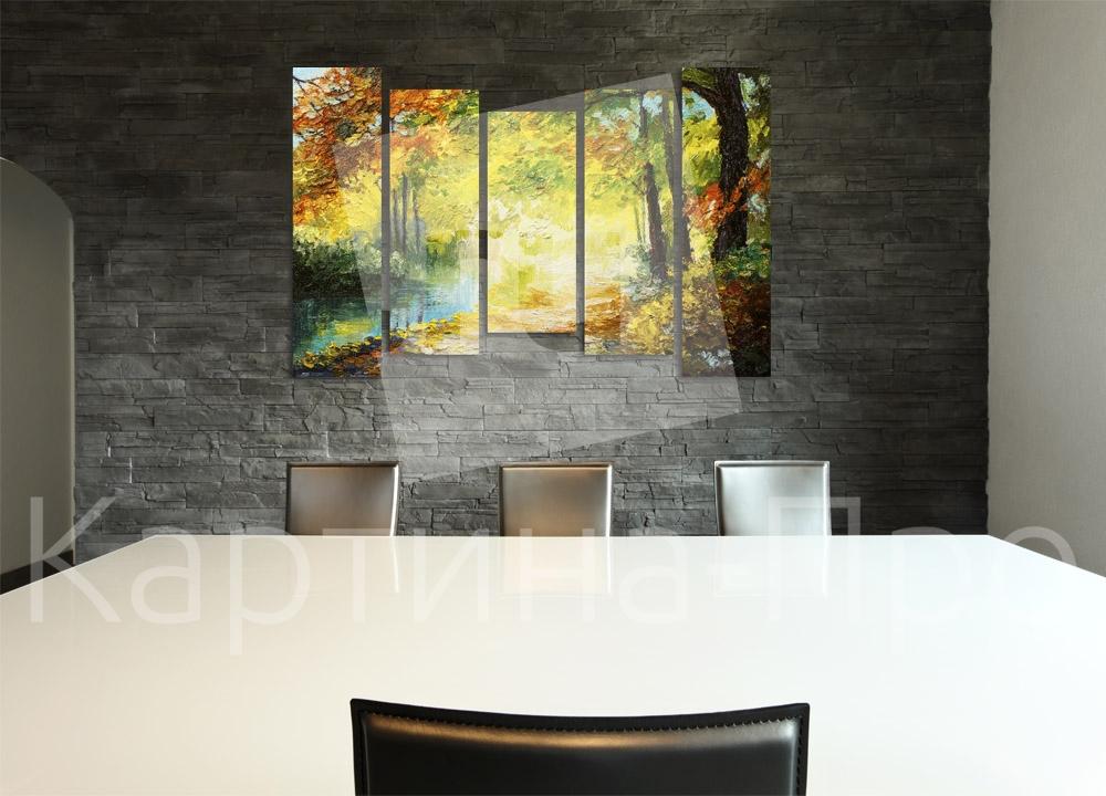 Модульная картина Красочный осенний лес от Kartina-Pro