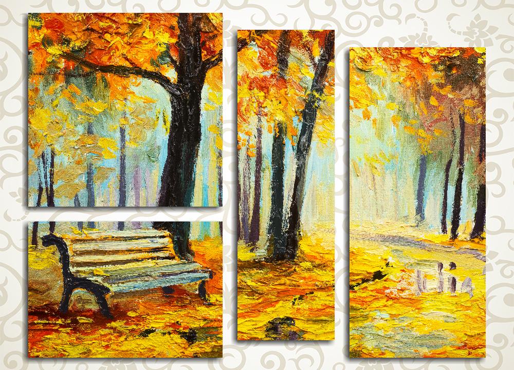 Модульная картина Дорожка в осеннем парке