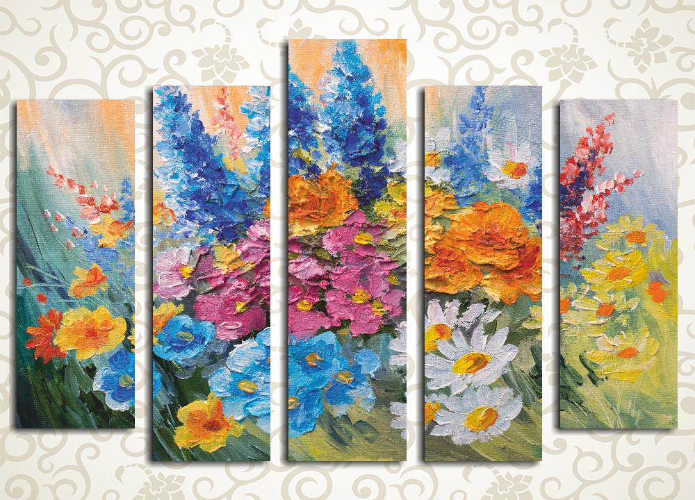Модульная картина Букет из полевых цветов