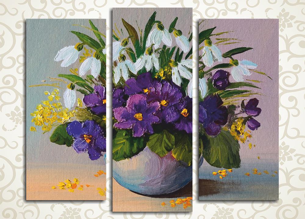 Модульная картина Букет весенних цветов