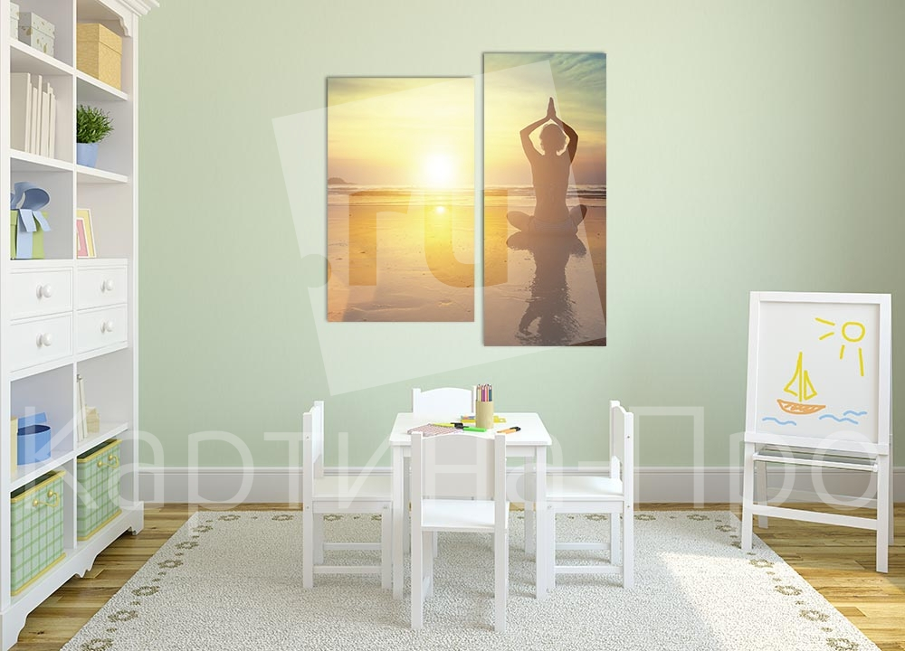 Модульная картина Медитация на пляже от Kartina-Pro