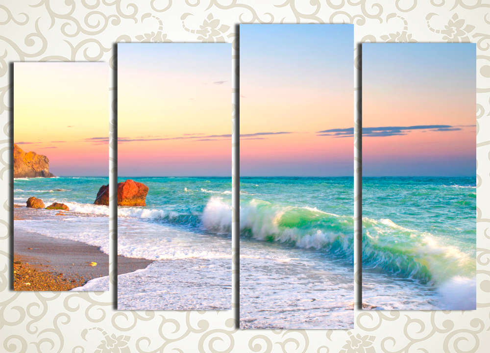 Модульная картина Бирюзовое море