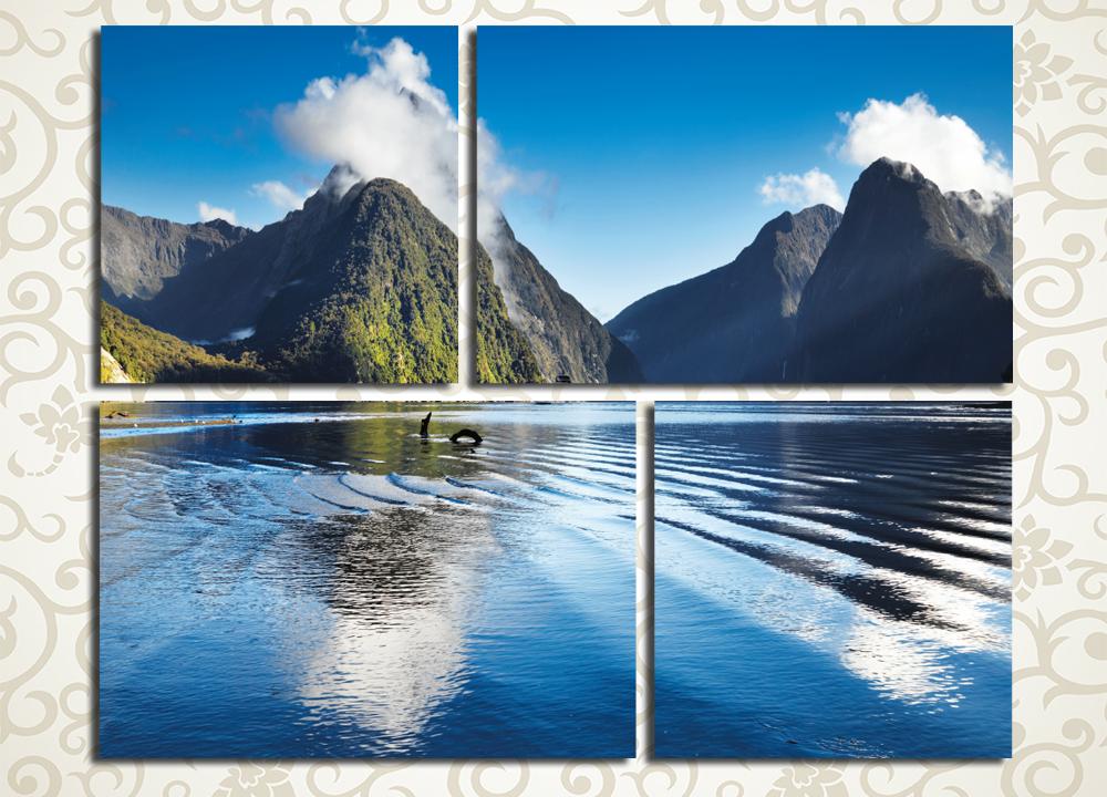 Модульная картина Горы на берегу<br>