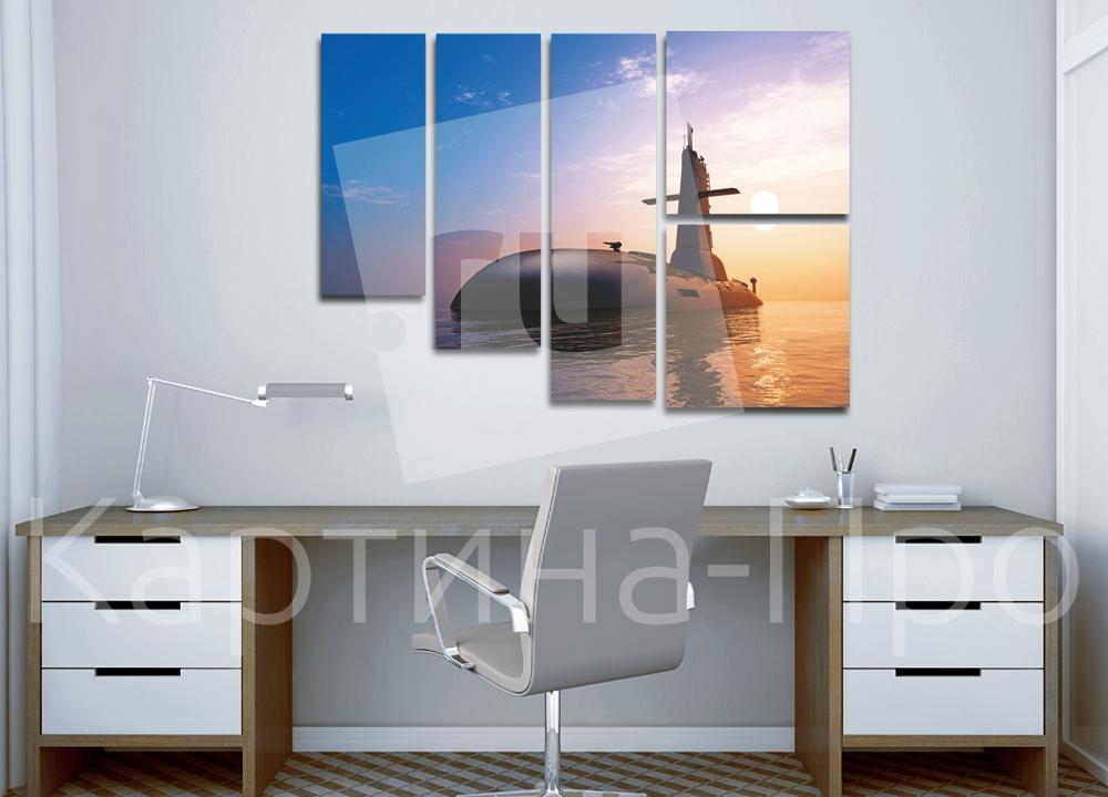 Модульная картина Подводная лодка от Kartina-Pro