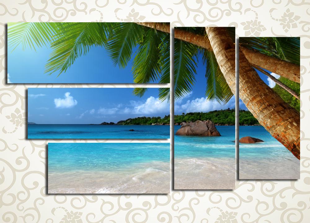 Модульная картина Пальмы на берегу моря