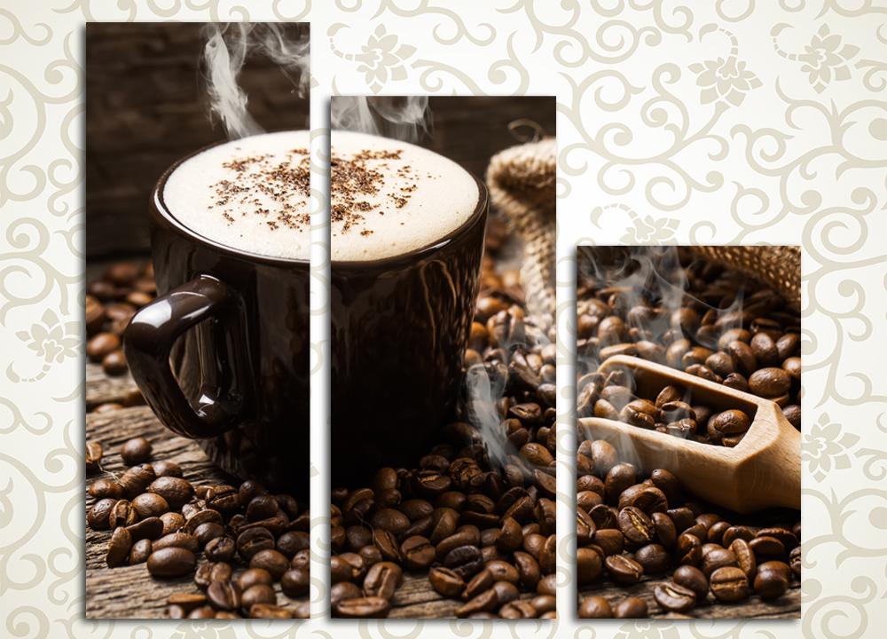 Модульная картина Аромат кофе