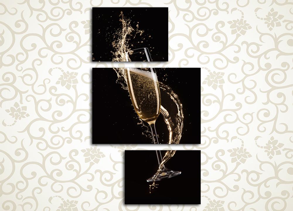Модульная картина Брызги шампанского<br>