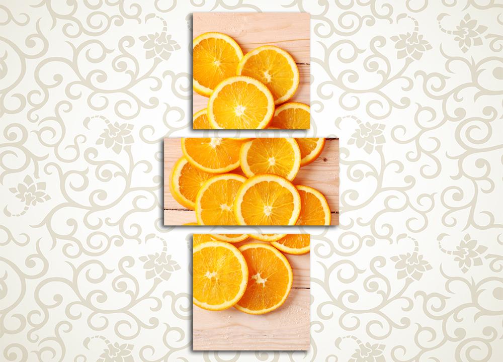 Модульная картина Солнечные апельсины