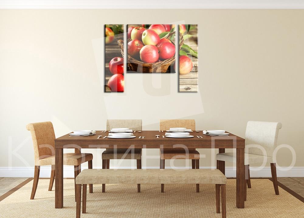 Модульная картина Корзина яблок от Kartina-Pro