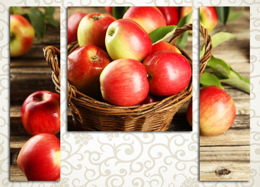 Модульная картина Корзина яблок<br>