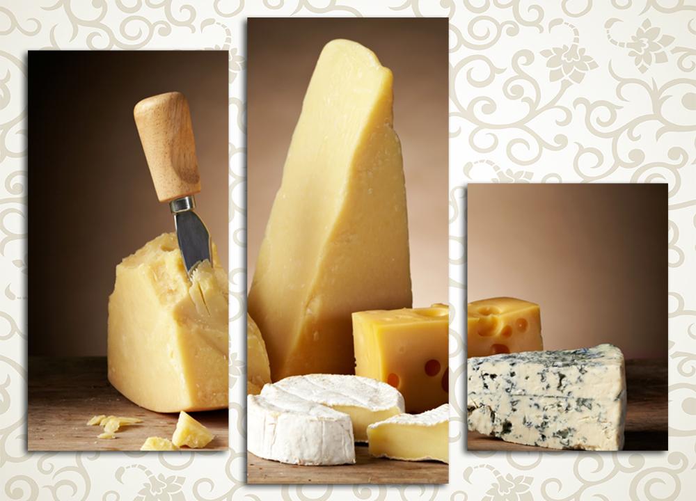 Модульная картина Сыр для гурмана от Kartina-Pro