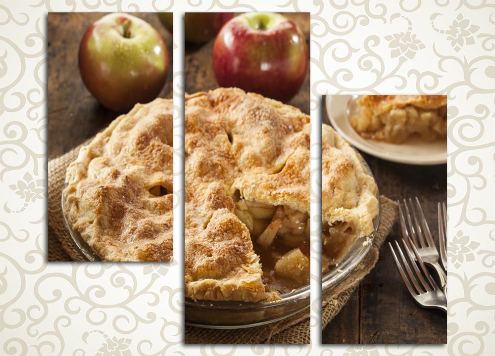 Модульная картина Яблочный пирог
