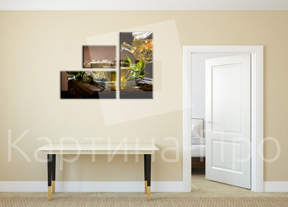 Модульная картина Изысканное чаепитие от Kartina-Pro