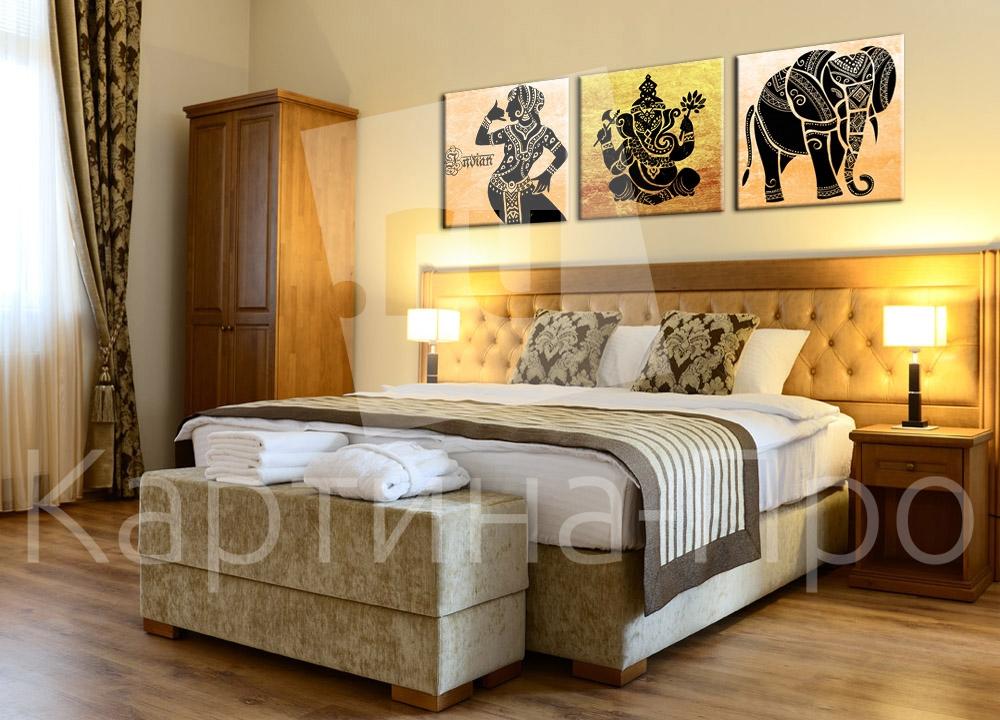 Модульная картина Индийские мотивы от Kartina-Pro