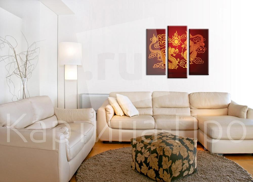 Модульная картина Золотой дракон от Kartina-Pro