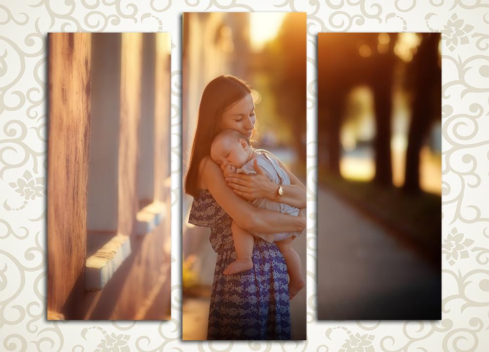 Модульная картина Любящая мать от Kartina-Pro