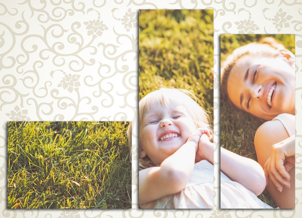 Модульная картина Счастливое детство