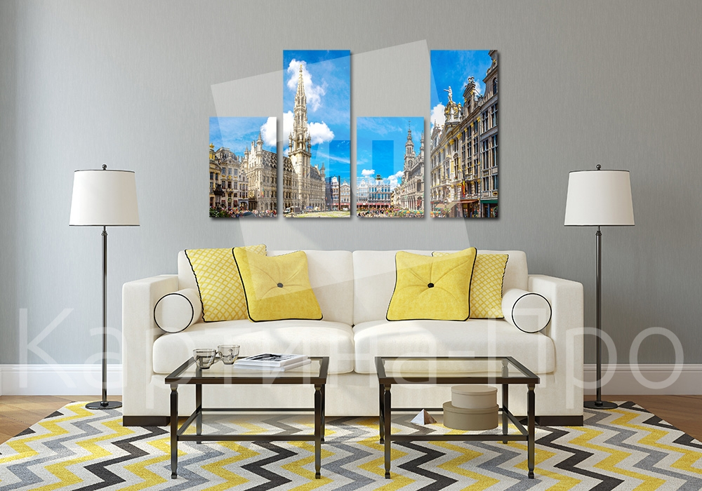 Модульная картина Центральная площадь Брюсселя от Kartina-Pro