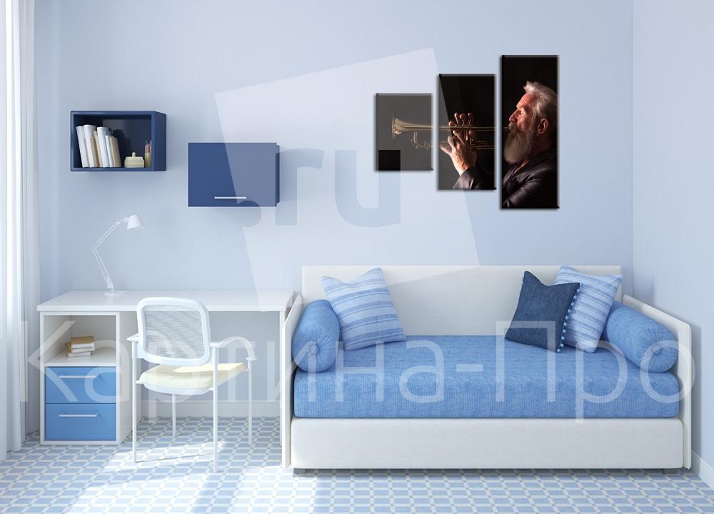 Модульная картина Джазмен от Kartina-Pro