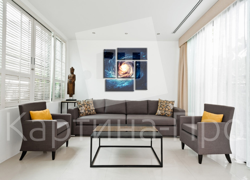 Модульная картина Галактика от Kartina-Pro