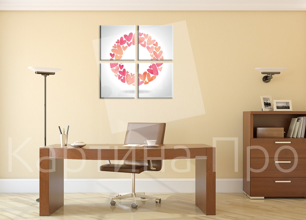 Модульная картина Любовное послание от Kartina-Pro