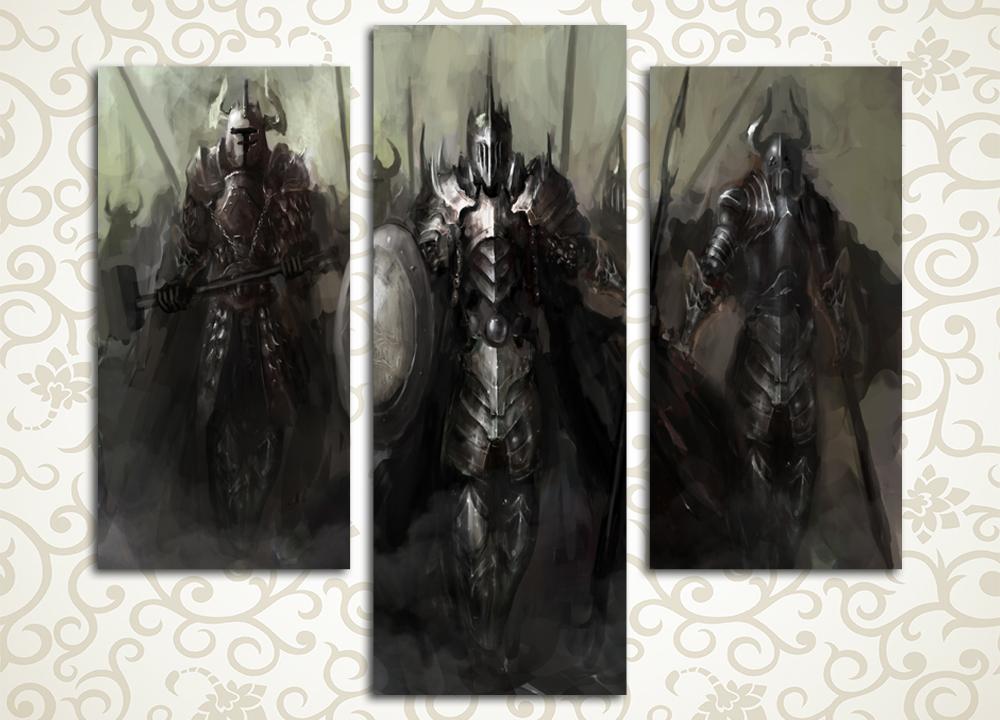Модульная картина Темное воинство