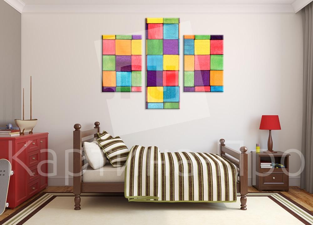 Модульная картина Кубики от Kartina-Pro