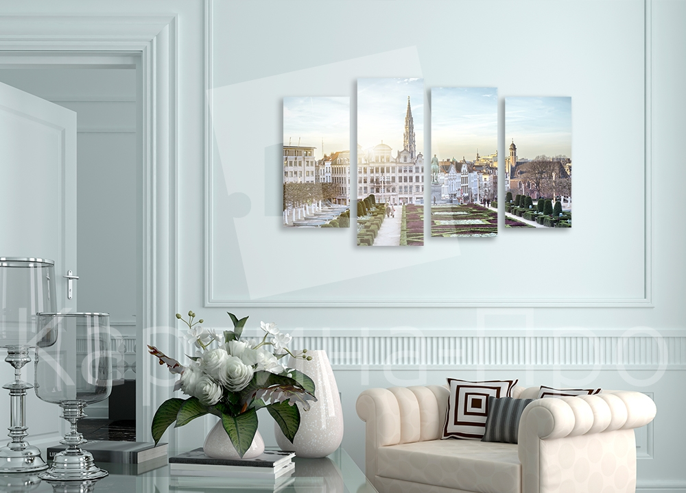 Модульная картина Сад Мон-дез-Ар,  Брюссель (Бельгия) от Kartina-Pro