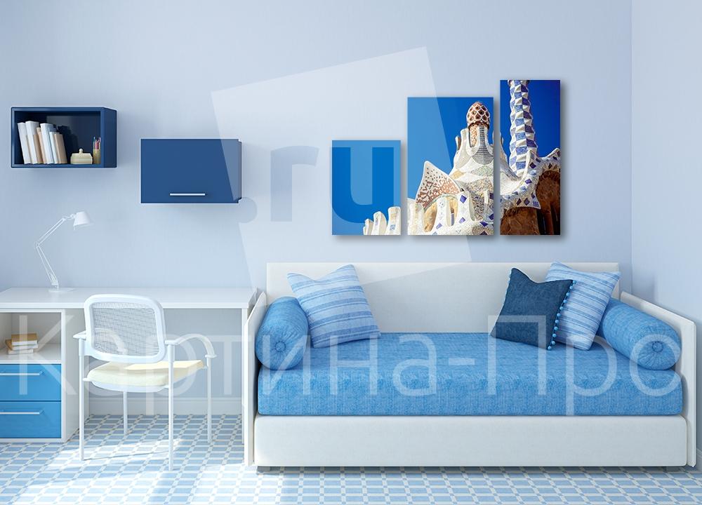 Модульная картина Пряничный домик, Барселона (Испания) от Kartina-Pro