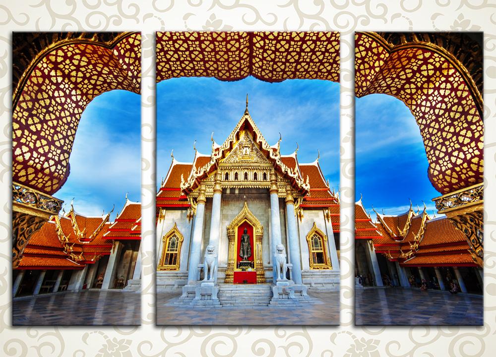 Модульная картина Мраморный храм. Бангкок (Тайланд)<br>